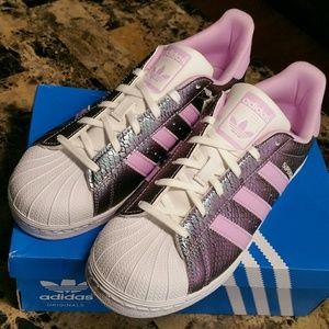 Hot!! Adidas Superstar J Purple/Lavender New!